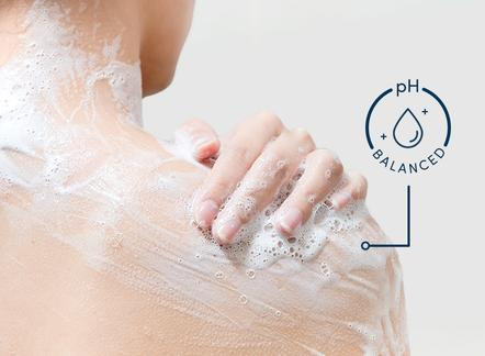 washing with soap pH balanced skin care